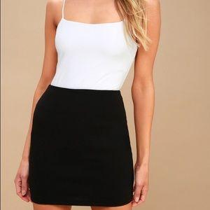 Parker Ribbed Black Tight Bodycon Skirt